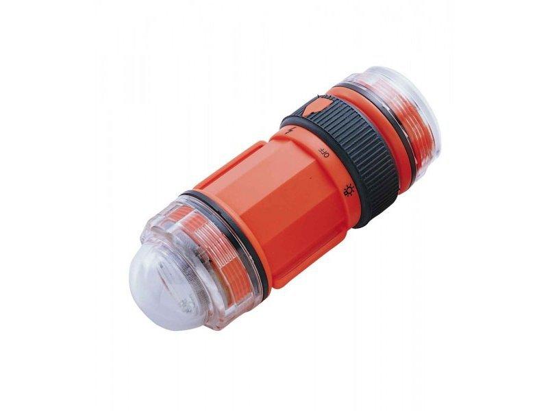 Фонарь подводный сигнальный ist led , красный, пластик, батарейки аа ls3