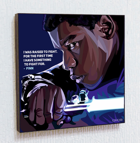 Картина постер Финн в стиле ПОП-АРТ