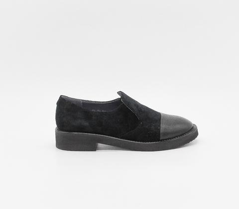 Комбинированные ботинки на платформе