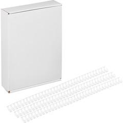 Пружины для переплета металлические Promega office 9.5 мм белые (100 штук в упаковке)