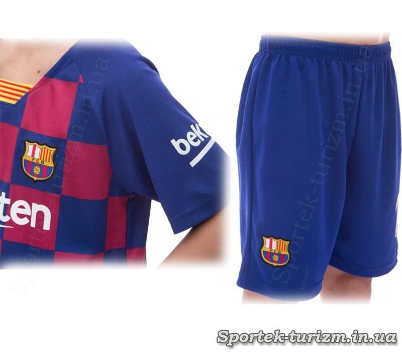 Рукава футболки і шорти футбольної форми BARCELONA MESSI 10 CO-1283