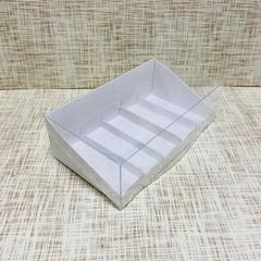 Коробка 22х12,5х7 см, картон, с прозрачной крышкой и подложками,