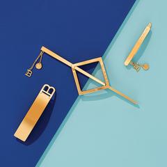 Balmain Заколка-ромб со шпилькой цвет золото Limited Edition Barrette Pour Cheveux Jewelery Gold SS21