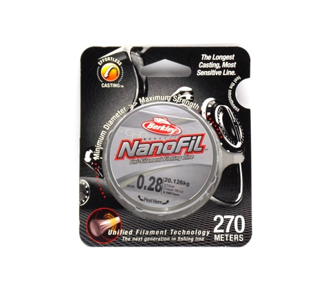 Плетеная леска Berkley Nanofil Полупрозрачная 270 м. 0,28 Nebel-Transparent (1278272)