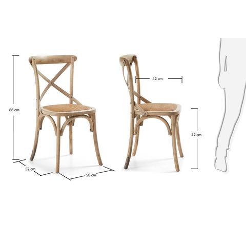 Деревянный стул Silea