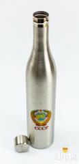 Фляга бутылка «СССР», в чёрном кожанном чехле, 800 мл, фото 3