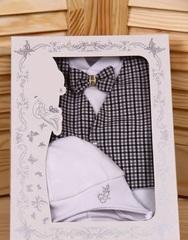 Велюровый набор на выписку из роддома Trendy стиляга