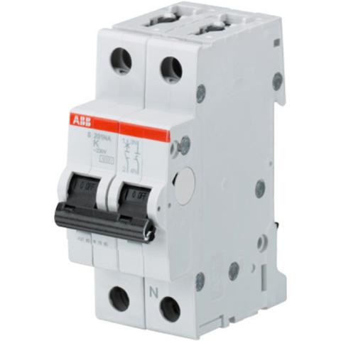 Автоматический выключатель 1-полюсный с нулём 63 А, тип K, 10 кА S201M K63NA. ABB. 2CDS271103R0607