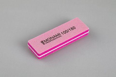 Monami Баф прямоугольный мини 100/180 розовый
