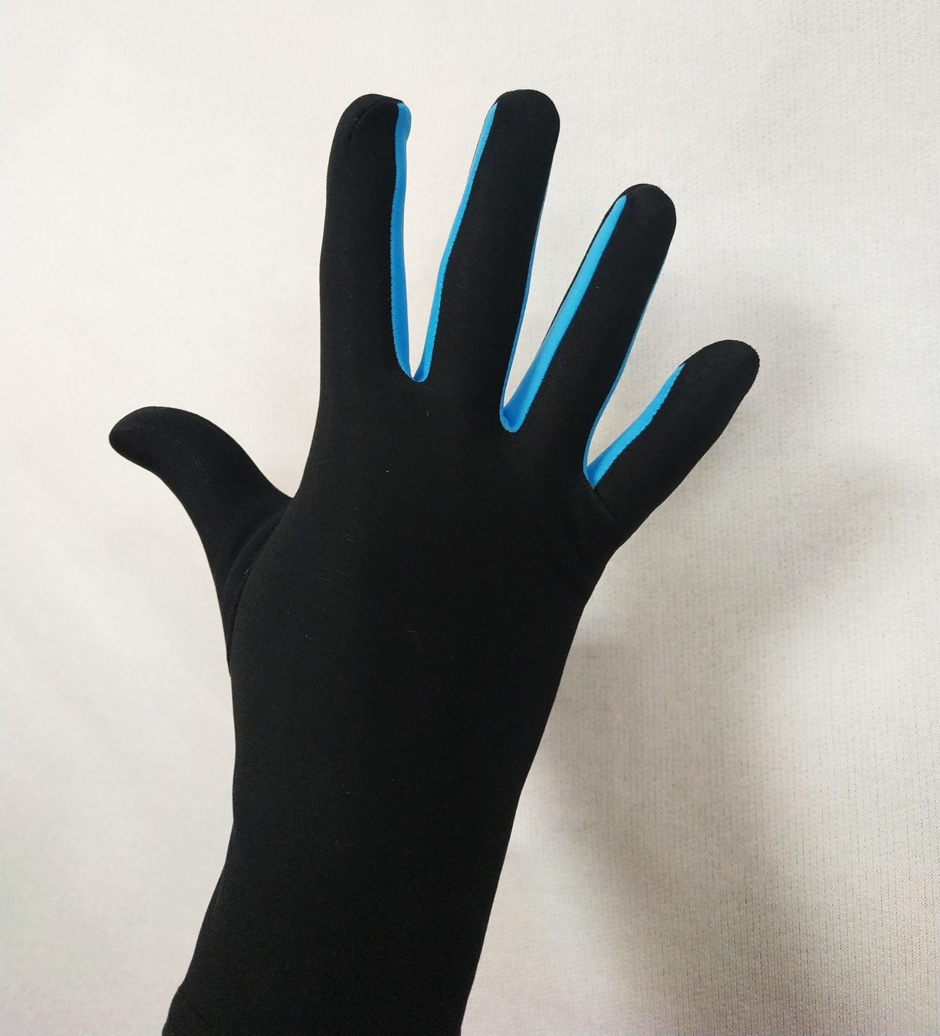 Перчатки из термоткани (с голубой вставкой)