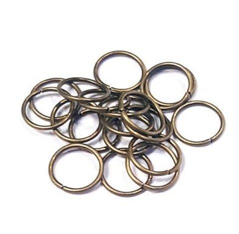 Кольцо одинарное 7 мм цвет бронза цена за 25 шт