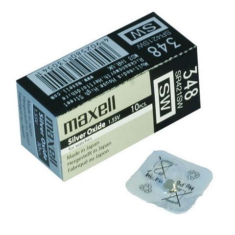 Батарейки часовые Maxell SR421SW (348) 1x10