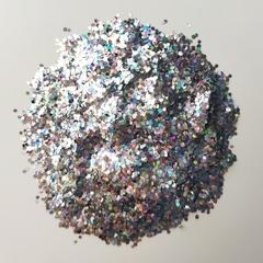 Блестки для слайма крупные профи серебро голография 20мл