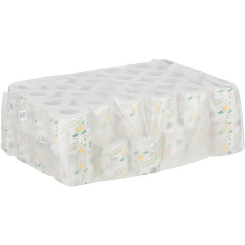 Бумага туалетная Островская Ромашка 1-слойная серая (48 рулонов в упаковке)