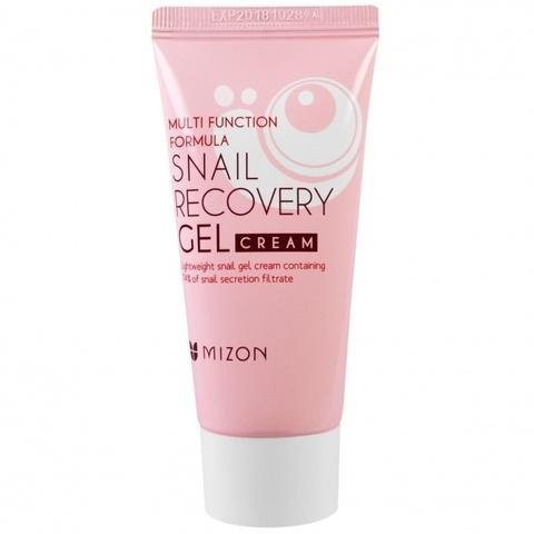 Гель-крем с экстрактом слизи улитки  Mizon Snail recovery gel cream