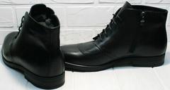 Утепленные ботинки мужские классические зимние Ikoc 3640-1 Black Leather.