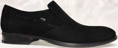 Классические черные туфли мужские лоферы Ikoc 3410-7 Black Suede.