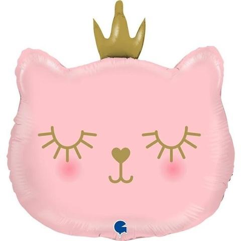 Фигура, Котенок Принцесса, Розовый, 66см.