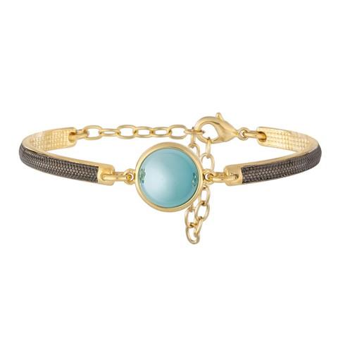 Классический браслет Pearl Blue Sky Agate C1363.21 BL/G