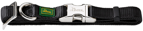 Ошейники Ошейник для собак, Hunter ALU-Strong L (45-65 см), нейлон с металлической застежкой, черный 43510.jpg