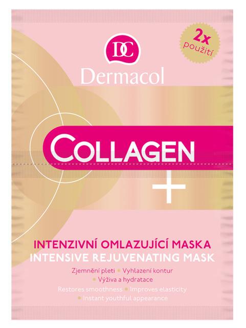 Dermacol Collagen + Intensive Интенсивная омолаживающая коллагеновая маска для лица 35+, 2*8гр