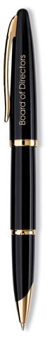 Ручка-роллер Waterman Carene, цвет: Black GT, стержень: Fblk123