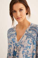 Коротка сорочка з принтом