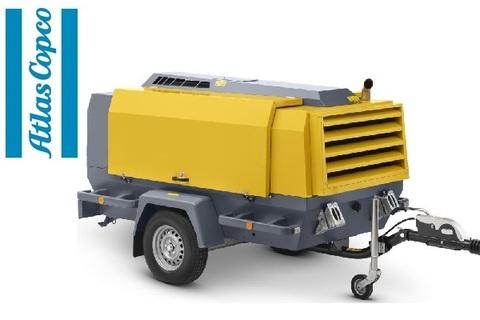 Компрессор дизельный Atlas Copco XAS 186 на шасси с регулируемым дышлом