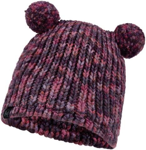 Шапка вязаная с флисом детская Buff Hat Knitted Polar Lera Purple фото 1