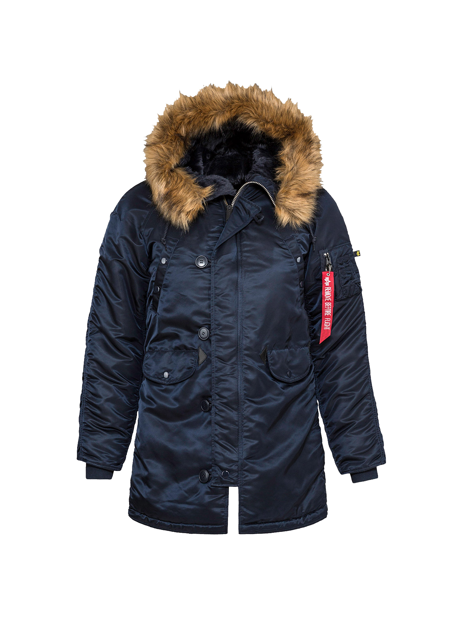 парка Alpha Industries N-3B W Parka Replica Blue (синяя)