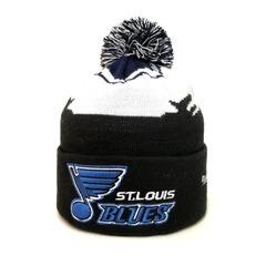 Вязаная шапка хоккей НХЛ Сент-Луис Блюз (Hockey NHL St. Louis Blues) с помпоном