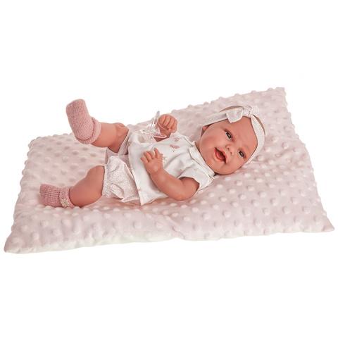 Antonio Juan. Кукла-младенец Глория на розовой подушке, 33 см