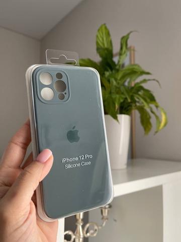 iPhone 12 Mini Silicone Case Full Camera /pine green/