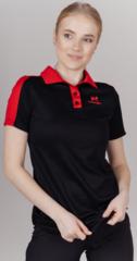 Поло спортивное Nordski Red/Black женское