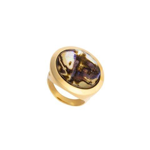 Кольцо Abalone 18.5 мм K9853.14/18.5 BR/G