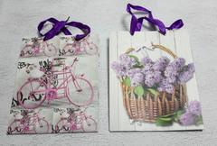 Пакет с дизайном, с ручками,  18 см × 23 см × 8 см.