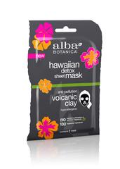 Тканевая вулканическая гавайская маска ALBA BOTANICA для детоксикации, 15 гр