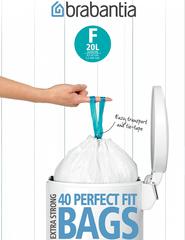Мешки для мусора PerfectFit, размер F (20 л), упаковка-диспенсер, 40 шт.