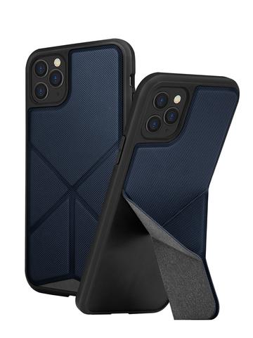Чехол Uniq Transforma для iPhone 11 Pro | с раскладной магнитной подставкой синий
