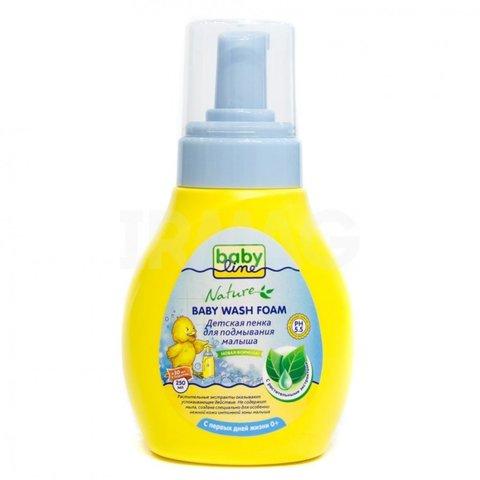 Пенка для подмывания малыша с растительным экстр. Babyline Nature (280 мл) с дозатором
