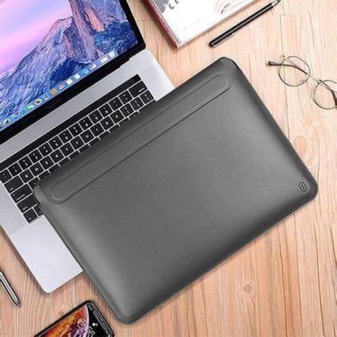 Папка конверт для MacBook New 13'' Wiwu Skin Pro2 Portable Stand /gray/