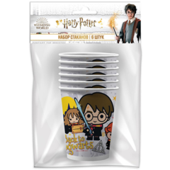 Стаканы бумажные, Гарри Поттер, 250 мл, 6 шт, 1 уп.