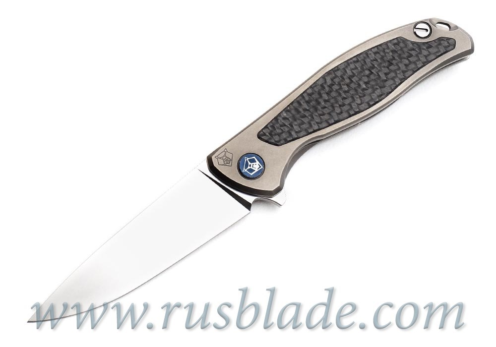 Shirogorov Flipper 95 S30V S Titanium CF inlays - фотография