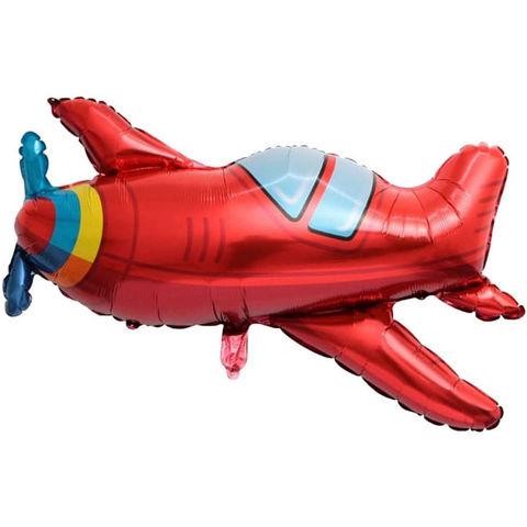 Фольгированный шар «Самолёт» красный, 97 см