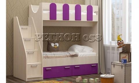 Двухъярусная кровать Бемби-11 МДФ