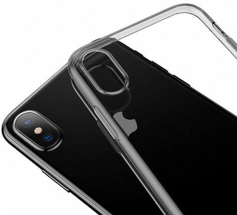 Baseus / Чехол Baseus Glaze Simplicity (dust-free) для iPhone Xs Max | прозрачный черное золото