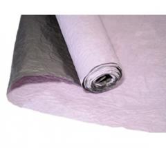 Бумага Эколюкс, Двухцветная, Розовый-черный, 70см* 5 м, 1 рулон.