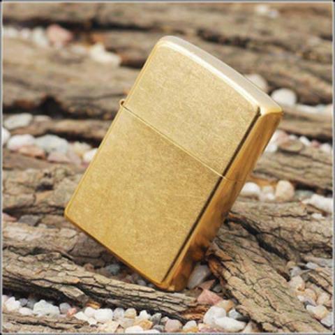 Зажигалка ZIPPO 207G Gold Dust Золотая