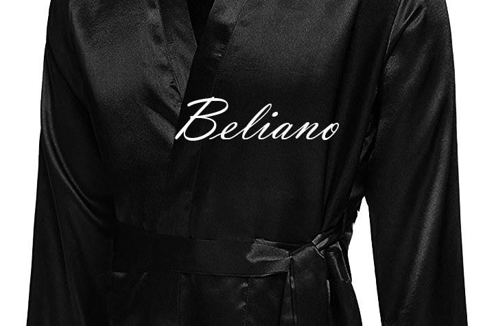 Длинный или короткий мужской халат из шелка черного цвета. Натуральный шелк