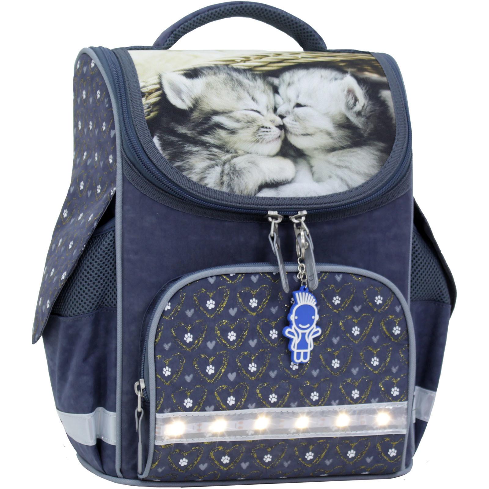Рюкзак школьный каркасный с фонариками Bagland Успех 12 л. серый 165к (00551703)